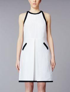 Cotton and silk dress, optical white - KASSEL Max Mara