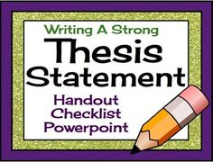 Why the thesis statement is important