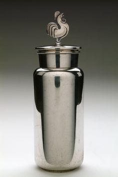 Harry Sørby; Silver Cocktail Shaker, 1930s