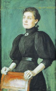 """""""Portrait of Saimi Järnefelt"""" (1895) by Eero Järnefelt"""
