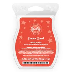 Summer Sunset Scentsy Bar..SUMMER SUNSET SCENTSY BAR Delight in the sun's last rays as brilliant pomegranate, black currant and rhubarb dissolve into a horizon of sugared lemon and vanilla frost. OH MY SCENTS! Shop: www.wicklessscentsations.scentsy.us