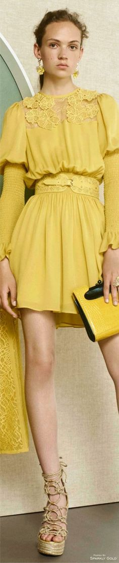 Elie Saab Resort 2017 yellow dress @roressclothes closet ideas #women fashion outfit #clothing style apparel