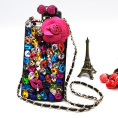 For iPhone 7 case Perfume Bottle Flower Rhinestone Phone Case Bling Gliter cover for iPhone 5s SE 6 7 Plus 6s Plus Case | iPhone Covers Online