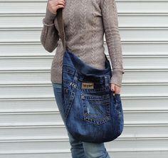 Large hobo bag slouchy handbag purse cross body by BukiBuki
