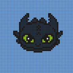 Toothless How to Train Your Dragon Perler Bead Pattern
