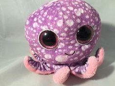 "Ty Beanies Boos Legs Octopus Stuffed Doll 6"" No Heart Tag Purple | eBay"