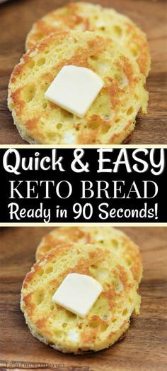 Are you looking for a quick and easy, keto friendly bread recipe? This 90 second keto bread recipe is made in the microwave with almond flour and is the best low carb bread recipe. Enjoy this bread alone or with one of our other amazing keto recipes! Healthy Low Carb Recipes, Ketogenic Recipes, Low Carb Keto, Ketogenic Diet, Easy Keto Recipes, Keto Carbs, Low Carb Flour, Healthy Carbs, Quick Keto Meals