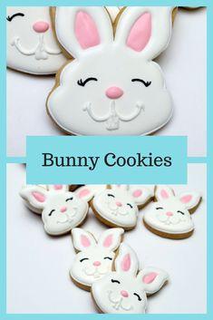 Decorated Cookies - Easter - Rabbits - Easter Bunnies #affiliate Easter Cookies, Cupcake Cookies, Sugar Cookies, Cupcakes, Barbie Cake, Candy Cakes, Cut Out Cookies, Cookie Exchange, Cookie Ideas