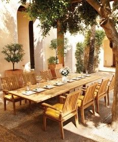 Enjoy brunch on the patio with your new favorite luxury outdoor dining furniture set complete with dining table and chairs. Outdoor Furniture Sets, Outdoor Patio Furniture, Outdoor Dining Furniture, Outdoor Furnishings, Outdoor Furniture, Outdoor Dining, Rectangular Dining Table, Dining Furniture Sets, Patio Dining Set
