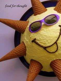 Τουρτα ήλιος http://laxtaristessyntages.blogspot.gr/2013/11/birthday-cake-sun.html
