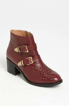 97b320c271 Burgundy Topshop Alvin Ankle Boot with gold hardware