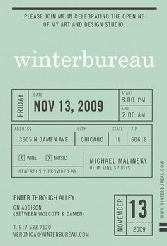 Winterbureau invitation | Veronica Corzo-Duchardt