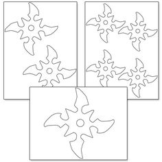 Printable Ninja Star Template                                                                                                                                                      More