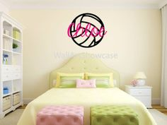 I Love Volleyball Vinyl Wall Decals By SweetumsSignatures On Etsy - Vinyl volleyball wall decals