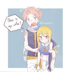 Natsu Dragneel and Lucy Heartfilia Fairy Tail Lucy, Art Fairy Tail, Fairy Tail Amour, Fairy Tail Meme, Fairy Tail Comics, Fairy Tail Ships, Fairy Tales, Fairytail, Jerza