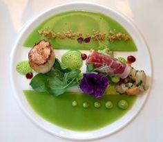 Plating: #food; #hautecuisine; #foodart