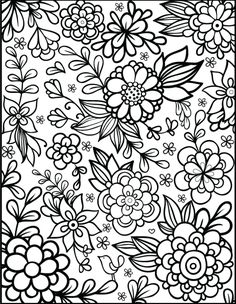 Floral Coloring Pages Idea free floral printable coloring page from filthymuggle Floral Coloring Pages. Here is Floral Coloring Pages Idea for you. Floral Coloring Pages free floral printable coloring page from filthymuggle. Flower Coloring Sheets, Colouring Sheets For Adults, Printable Flower Coloring Pages, Printable Adult Coloring Pages, Coloring Pages To Print, Coloring Pages For Kids, Coloring Books, Free Coloring Sheets, Detailed Coloring Pages