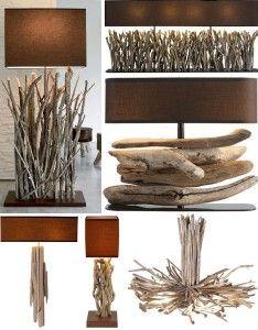 drifwood lamps and lighting