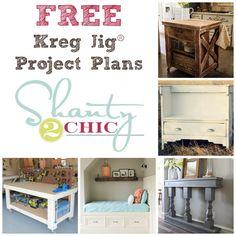 FREE Kreg Jig® Project Plans by www.shanty-2-Chic.com