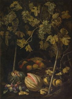 Still Life with Fruit and Vine (Pietro Paolo Bonzi) - Nationalmuseum.jpg (746×1024)