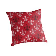 Fleur De Lis art design in blood red black and white. by linepush