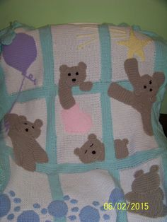 Adorable baby/children's blanket with  5 by MadeinMassachusetts