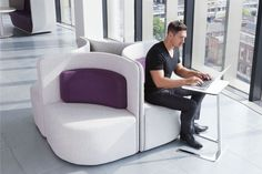 The Flamingo Table by Boss Design is an ergonomic and stylish table suitable for laptop work in home and office environments. Its sleek, elegant silhouette and flexible surface and base finish options mean this table blends within a range of corporate or domestic settings. | Creating Happy Offices | Sound Proof Acoustic Phone Booths, Mid-Century and Contemporary Office Design and Furniture | Framery UK & Office Blueprint