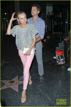 pink pants with gray animal print..cute!