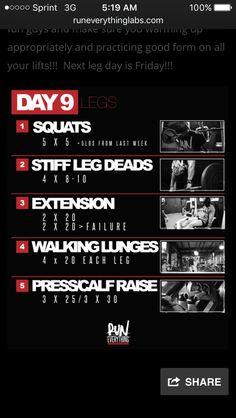 Leg basics for a shorter workout