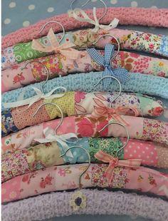 Patchwork and crochet hangers