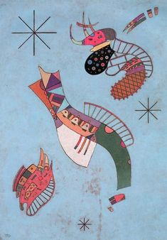 "Wassily Kandinsky - ""Three Stars"", 1942"