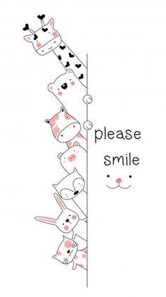 Cartoon animal hand drawn style Premium Vector - Cartoon animal h Cute Little Drawings, Easy Drawings, Animal Doodles, Flower Doodles, Cute Cartoon Wallpapers, Nursery Art, Doodle Art, Animal Drawings, Cute Art