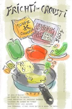French Recipes, Asian Recipes, Interesting Recipes, French Food, Food Illustrations, Appetizers For Party, Food Art, Good Food, Pasta