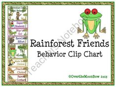 This fun, rainforest themed behavior chart fits in well with the 'green–yellow–red' behavior system used in many schools, yet provides positive recognition for students who go above & beyond.