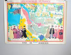 Vintage French Vineyard Poster
