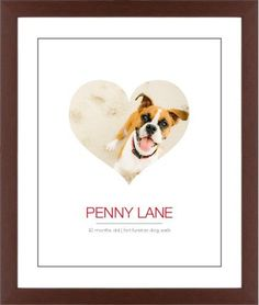Modern Heart Framed Print, Brown, Contemporary, Black, White, Single piece, 16 x 20 inches, White