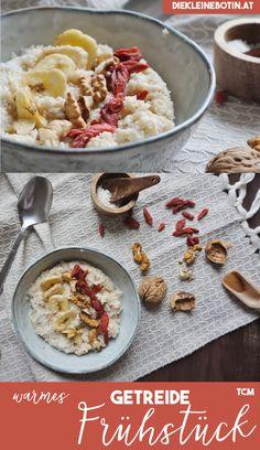 warmes Getreidefrühstück (Porridge) nach der traditionellen chinesischen Medizin (TCM). Macht satt, wärmt und liefert gute Energie für den Tag.  5 Elemente für die ganze Familie!