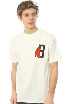 The Feather B Logo Tee in White by BLVCK SCVLE