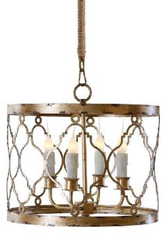 Aidan Gray Distressed Gold Adella Pendant L262 CHAN - Aidan Gray Distressed Gold Adella Pendant L262 CHANSKU: L262 CHANManufacture: Aidan GrayCategory: LightingSub-Category: ChandeliersMaterial: Material_1: Metal - SheetFinish: Distressed GoldType: ChandelierMount Type: Ceiling MountWood Tone: MediumStyle: ModernDisclaimer: All Chandeliers Come With Standard 7 Ft. Chain. Pole Sold Seperately. ML09 GOLD, ML10 GOLD, ML11 GOLD, ML12 GOLD Ups Oversize: NDimensions: 16 W x 16 D x 12 H Inches, ...