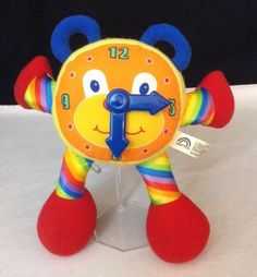 Chiming Clock Plush by Jolly Toys