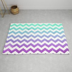 The chevrons are... fine Unicorn Ice Cream, Striped Rug, Drake Lyrics, Accent Pillows, Chevron, Aqua, Outdoor Blanket, Mint, Art Prints
