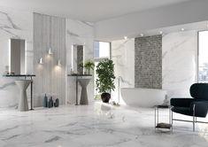 LUXUSNÉ KÚPEĽNE - Exkluzívne kúpeľne v štýle glamour / BENEVA Boutique, Background Tile, Encaustic Tile, Marble Effect, Porcelain Tile, Terrazzo, Oversized Mirror, Tiles, Art Deco