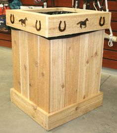 Rustic Western Trash Can