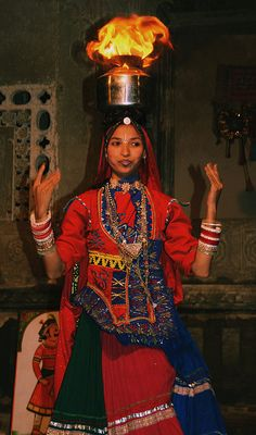 Rajasthani Fire-dancer