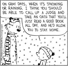 Calvin and Hobbes - rainy days I Love Books, Good Books, Books To Read, My Books, Calvin And Hobbes Comics, Library Humor, Marquis, Book Nerd, Book Quotes