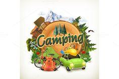 Camping illustration @creativework247