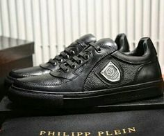 save off 5ace6 13755 PHILIPP PLEIN LO-TOP SNEAKERS A591190 PHILIP PLEASANT BLACK 1134 Philipp  Plein Sneakers, Shoes
