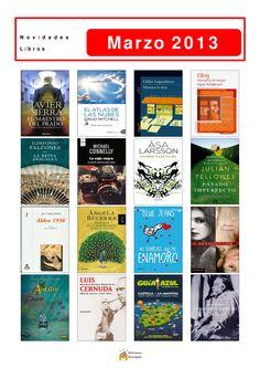 Novelas, xuvenís, libros de materias... incorporados en marzo de 2013 na Biblioteca Os Rosales