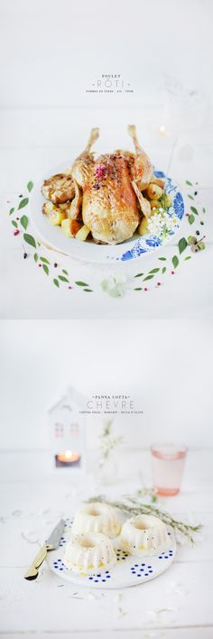 Roasted Chicken with garlic and thyme I Griottes palette culinaire www.griottes.fr