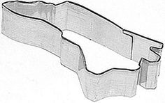 State of North Carolina Cookie Cutter for Gameday Cookies, Medium 4 inch $2.50